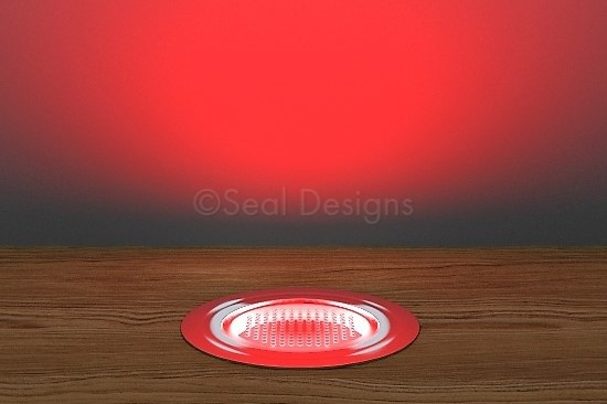 10 x 45mm Kit – Red Stainless Steel Round Bezel