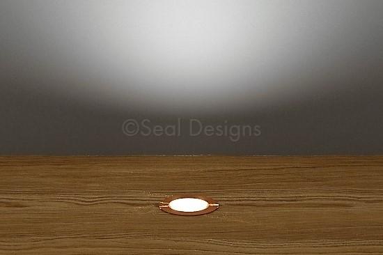 10 x 18mm Kit – White Copper Round Bezel