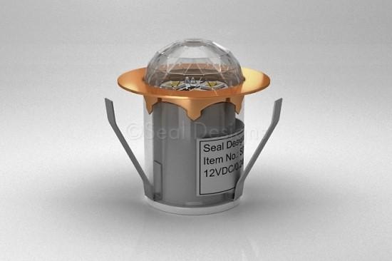 1 x 30mm Crystal Dome Light – Copper Bezel