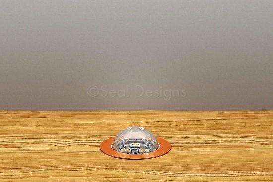 10 x 30mm Crystal Dome Kit – Blue – Copper Bezel