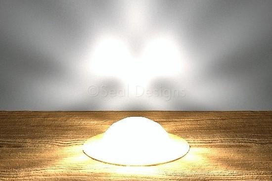 10 x 45mm Crystal Dome Kit – White – Copper Bezel