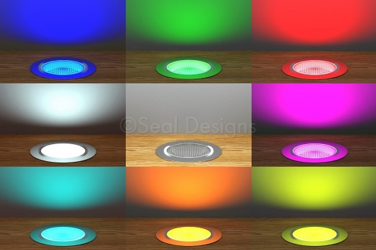 1 x RGB Easy Change LED Light Fitting – 3 Sizes Available