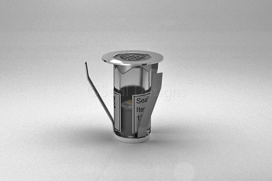 1 x 18mm LED Light Fitting Stainless Steel Round Bezel