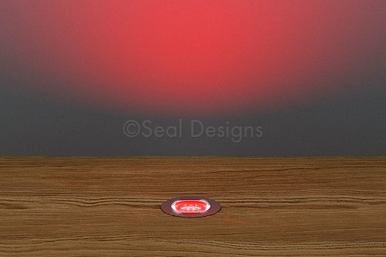 10 x 18mm Kit – Red Stainless Steel Round Bezel