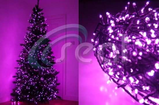 LED Christmas Lights – Pink