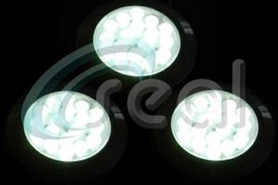 3 x 65mm Round LED – White