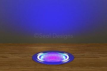 10 x 45mm Easy Change LED Lights Decking//Plinth//Kickboard//Kitchen BLUE