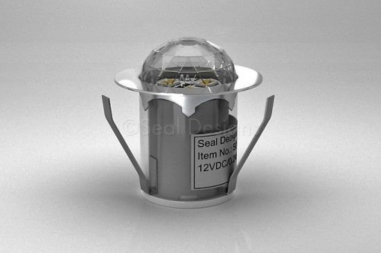 1 x 30mm Crystal Dome Light – Stainless Steel Bezel