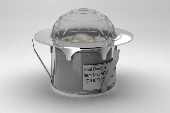 1 x 45mm Crystal Dome Light – Stainless Steel Bezel