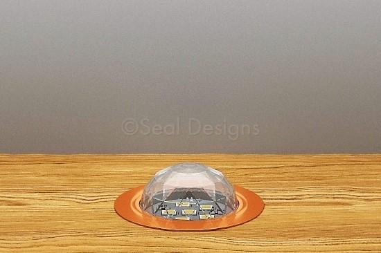 10 x 45mm Crystal Dome Kit – Blue – Copper Bezel